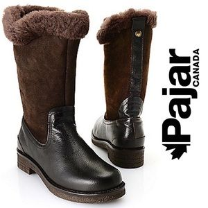 Pajar Leather Lambskin Lined Mid-Calf Boots, 7